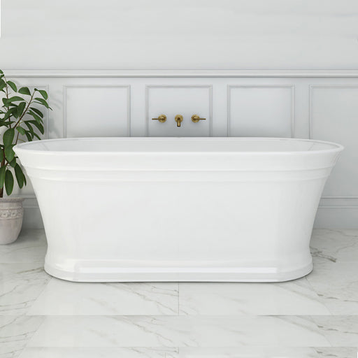 Decina Regent 1700mm Freestanding Oval Bath. Hampton and farmhouse style bath tubs online at The Blue Space