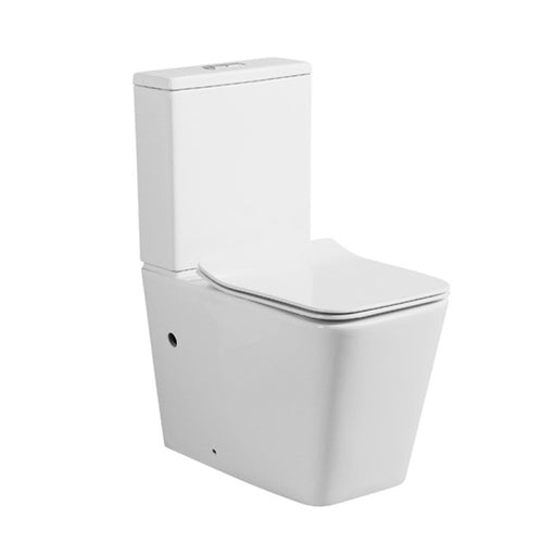 Decina San Diego Rimless Wall Faced Toilet Suite - The Blue Space - Square Toilet Design