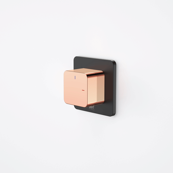 Dorf Epic Bloc Progressive Wall Mixer- Black/Rose Gold - the blue space