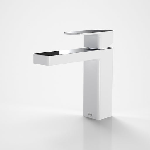 Dorf Epic Splice Basin Mixer-White/Chrome - the blue space