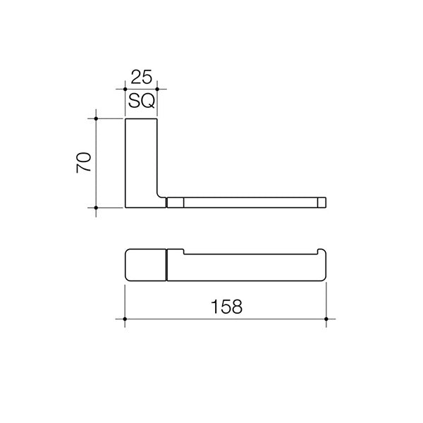 Dorf Epic Toilet Roll Holder - specs - line drawing and dimensions