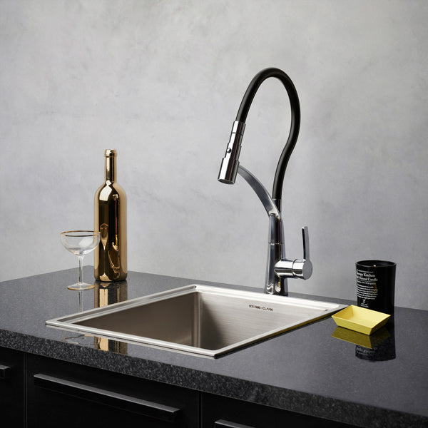 Dorf Inca Sink Mixer Black/Chrome - the blue space
