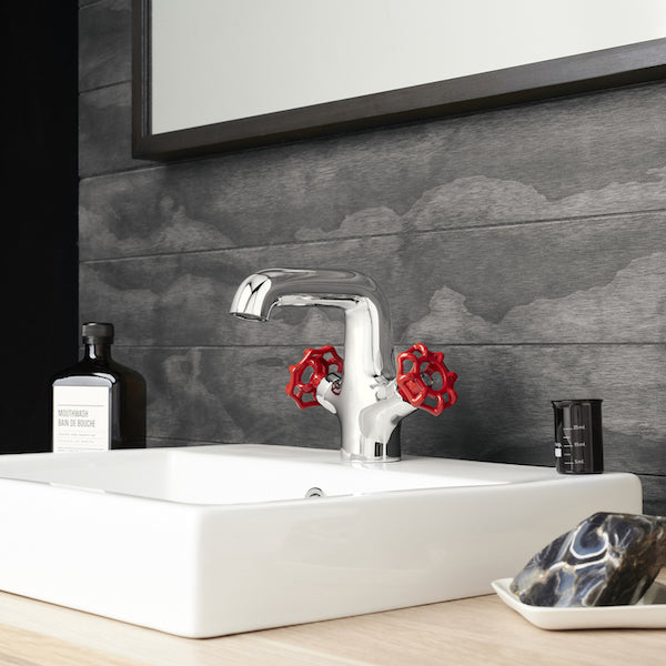 Dorf Industrie Basin Mixer-Red - the blue space