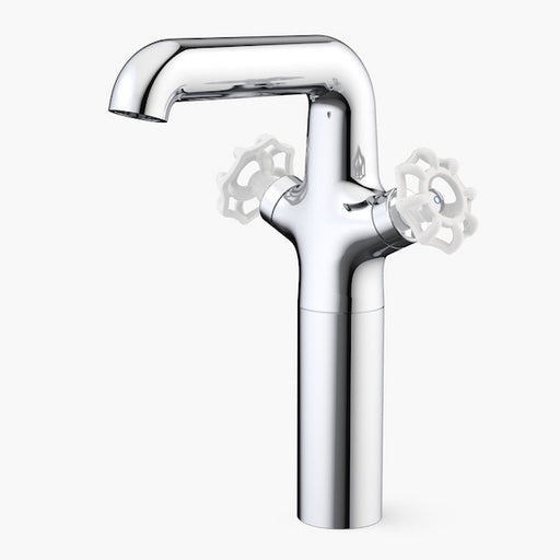 Dorf Industrie Tower Basin Mixer-White