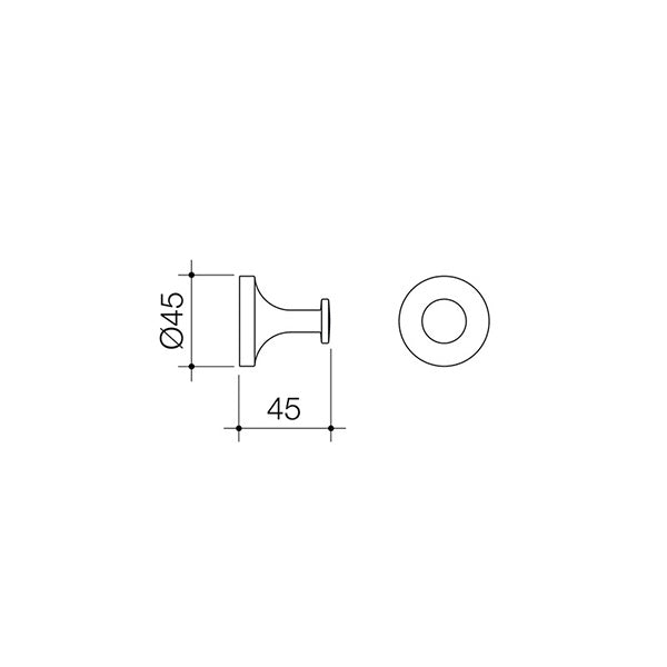 Dorf Kip Robe Hook Dimensions - The Blue Space