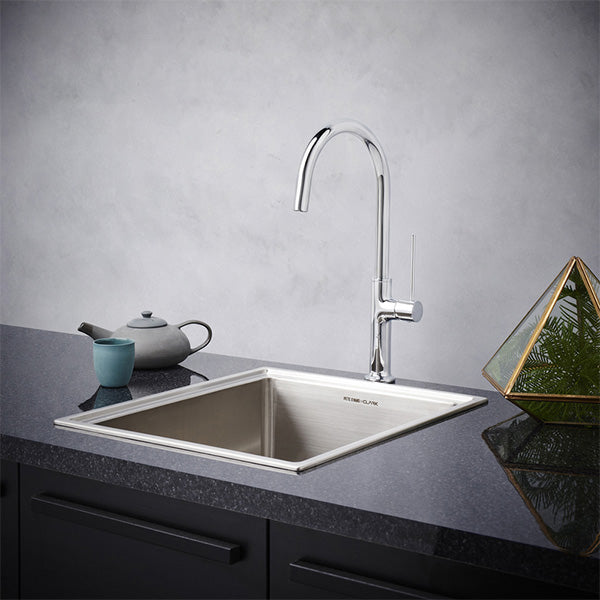 Dorf Willow Sink Mixer - chrome - the blue space