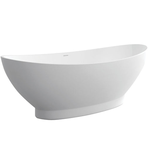 Fienza Antonia Matte White Stone Freestanding Bath - The Blue Space