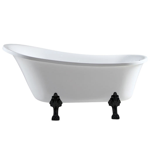 Fienza Clawfoot Heritage Bath - Matte Black Feet - The Blue Space