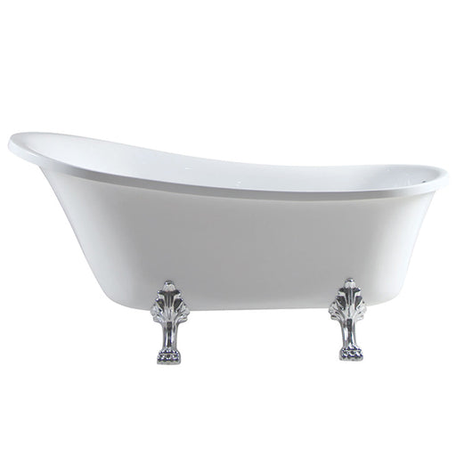 Fienza Clawfoot Heritage Freestanding Bath - Chrome Feet - The Blue Space
