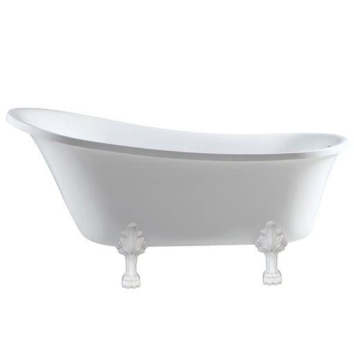 Fienza Heritage Clawfoot Bath - Semi-Gloss White Feet - The Blue Space