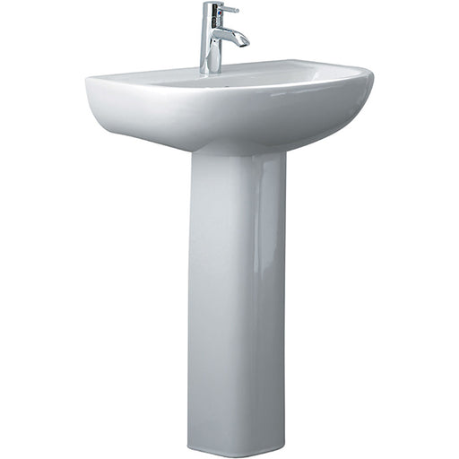 Fienza Compact 550 Pedestal Basin - The Blue Space