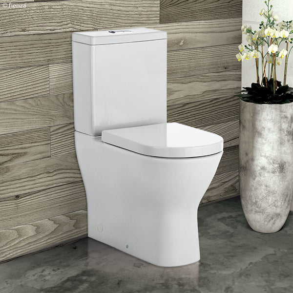 Fienza Delta Rimless Back To Wall Easy Height Toilet The