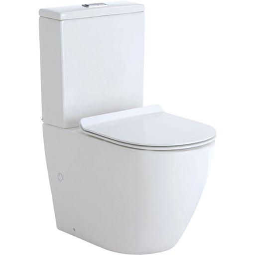 Fienza Koko Rimless Back-to-Wall Toilet Suite with Thin Seat online at The Blue Space