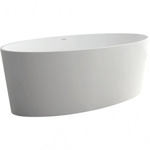 Fienza Lexy Matte White Stone Freestanding Bath 1600mm - The Blue space