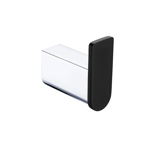 Fienza Lincoln Mixed Finish Chrome and Black Robe Hook