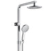 Fienza Luciana Multifunction Rail Shower with Overhead in chrome