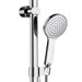 Fienza Luciana Multifunction Rail Shower with Overhead hand held shower close up