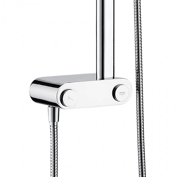 Fienza Luciana Multifunction Rail Shower with Overhead Diverters