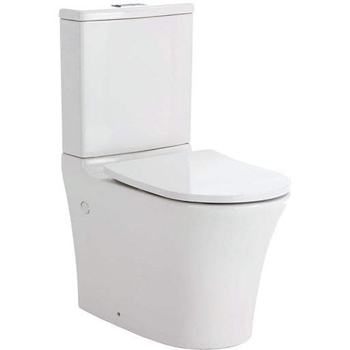 Fienza Luciana Rimless Back-to-Wall Toilet Suite