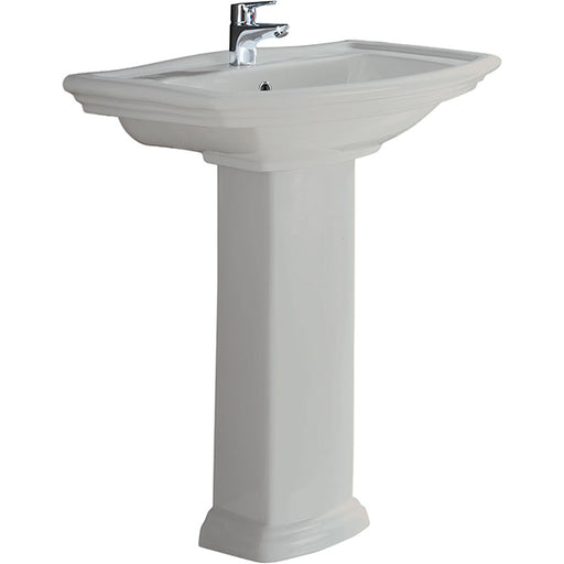 Fienza Washington Pedestal Basin - Ivory - The Blue Space