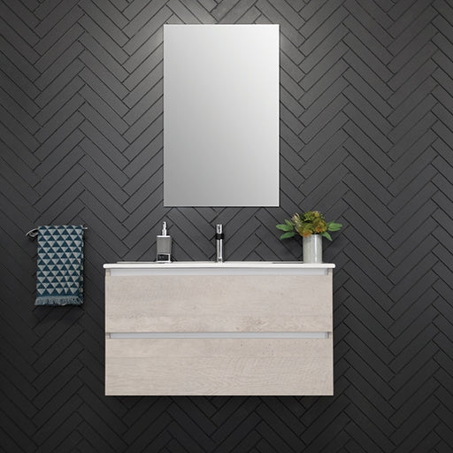 ADP Glacier Ceramic All - Drawer Ensuite Twin Vanity 600mm - 900mm by ADP - The Blue Space
