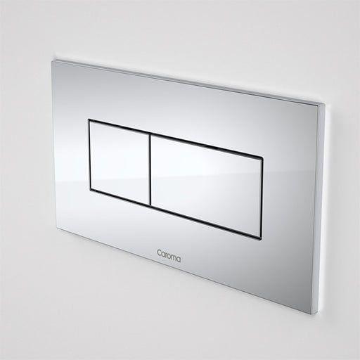 Caroma Invisi Series II Metal Rectangular Dual Flush Plate & Buttons by Caroma - The Blue Space