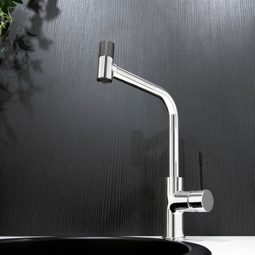 Jamie J Indi Square Sink Mixer 2-in-1 Pure Water Solution with chrome body and matte black handle and top - The Blue Space