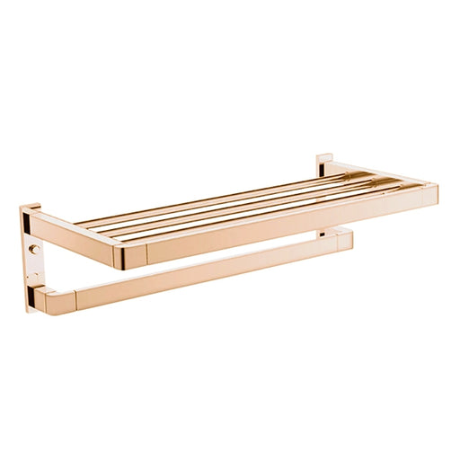 Jamie.J Brooklyn Towel Rack-Polished Rose Gold - The Blue Space
