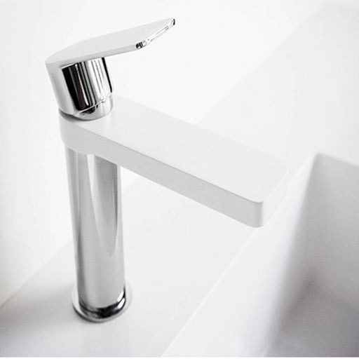 Jamie.J Cosmopolitan Basin Mixer-White/Chrome - The Blue Space