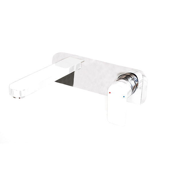 Jamie.J Cosmopolitan Wall Basin Set chrome plate with white tap and spout - The Blue Space