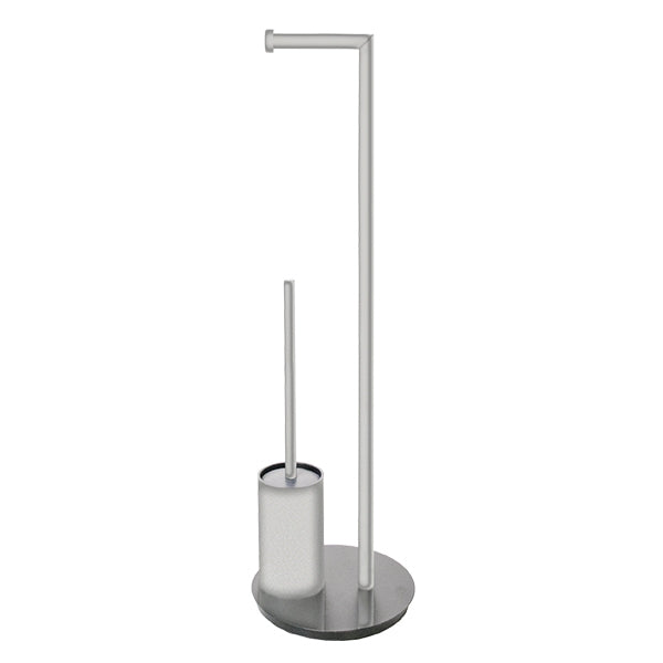 Jamie.J Staten Freestanding Toilet Caddy-Chrome - The Blue Space