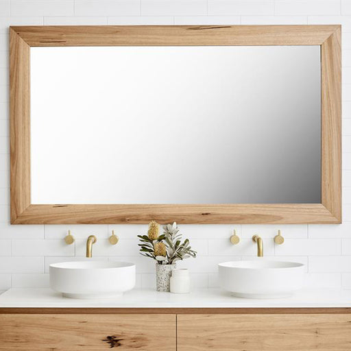 Loughlin Furniture Lennox Mirror with timber edge at The Blue Space