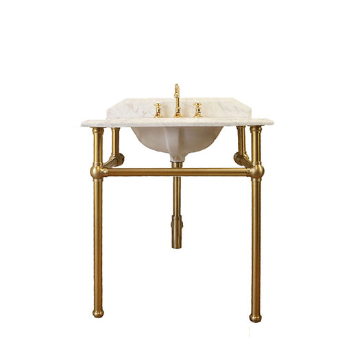 Turner Hastings Mayer Washstand with 75 x 55 Real Carrara Marble Top Online at The Blue Space