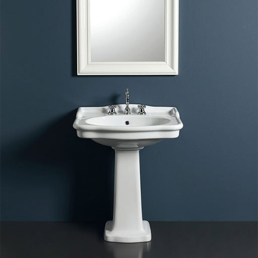 Turner Hastings McKinley 70x55 Fine Fireclay Wash Basin on Pedestal - The Blue Space