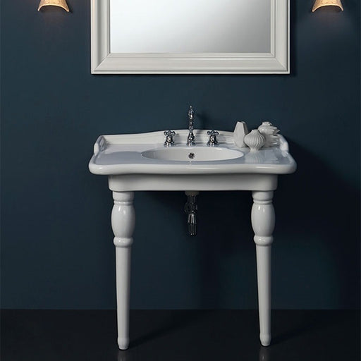 Turner Hastings McKinley 95x58 Fine Fireclay Wash Bathroom Basin on Legs - The Blue Space