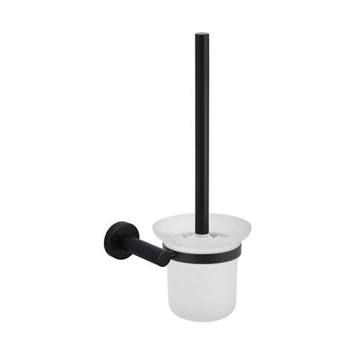 Meir Round Matte Black Toilet Brush and Holder at The Blue Space