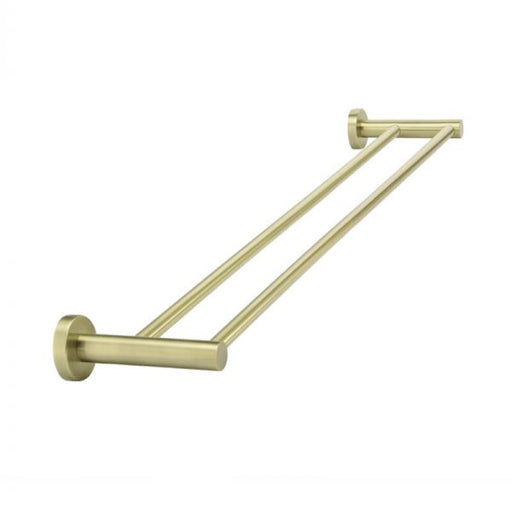 Meir Round Double Tiger Bronze Towel Rail 600mm online at The Blue Space