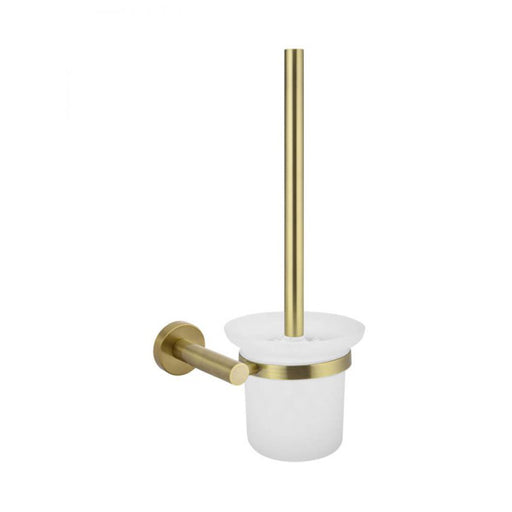Meir Round Tiger Bronze Toilet Brush and Holder Gold online at the Blue Space