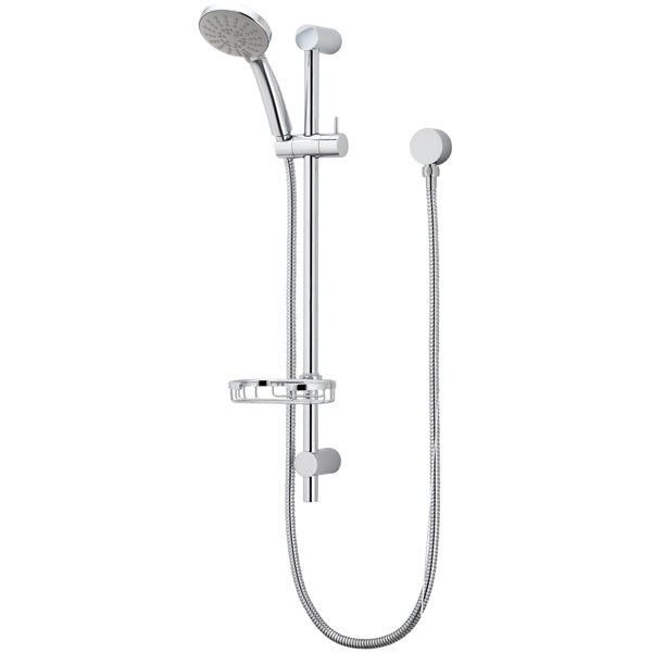 Methven Flexispray Cascade II 3 Function Brass Rail Shower - The Blue Space