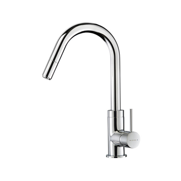 Methven Culinary Gooseneck Pull Out Sink Mixer-Chrome - The Blue Space