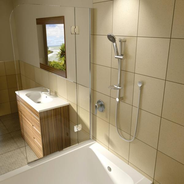 Methven Maku Satinjet Rail Shower in resort style bathroom - The Blue Space