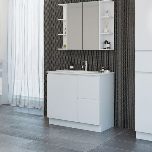 Timberline Nevada Floor Standing Vanity 600mm - 1500mm with Alpha Ceramic Top - The Blue Space
