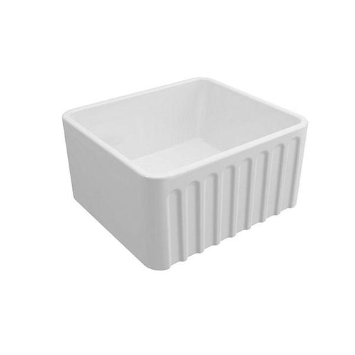 Turner Hastings Novi 50 x 46 Ribbed Front Fine Fireclay Butler Sink Online at The Blue Space