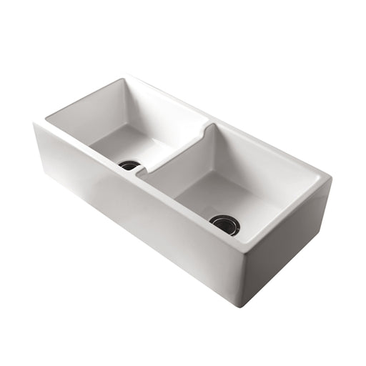 Turner Hastings Patri Original 100 x 47 Fine Fireclay Double Bowl Butler Sink - The Blue Space