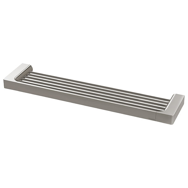 Phoenix Gloss Shower Shelf-Brushed Nickel - shower shelf - the blue space