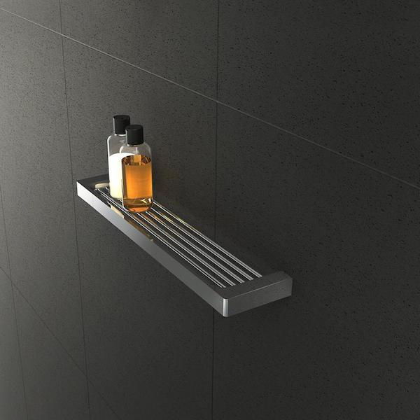 Shower shelf - chrome - shower - the blue space