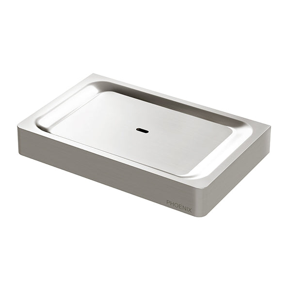 Phoenix Gloss Soap Dish-Brushed Nickel - the blue space