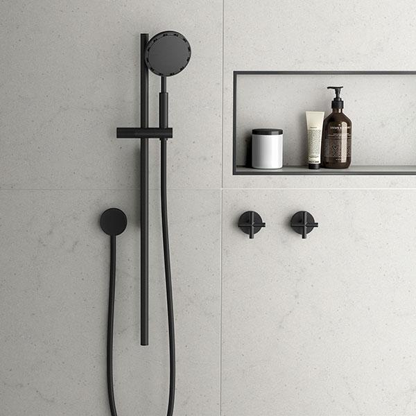 Phoenix NX IKO with Hydrosense Rail Shower - Matte Black Online at The Blue Space