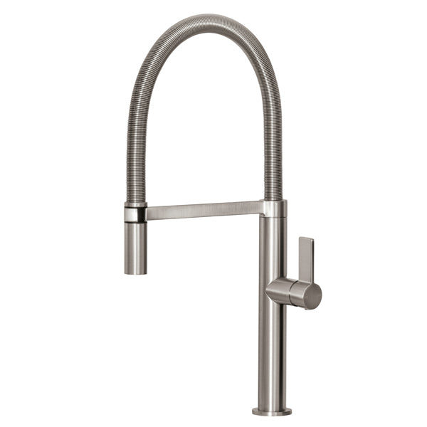 Phoenix Prize Flexible Coil Sink Mixer-Brushed Nickel - The Blue Space