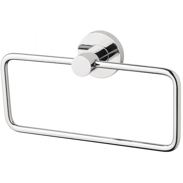 Phoenix Radii Hand Towel Holder Round Plate - Chrome - The Blue Space